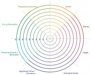 """A sample """"Wheel of Life"""" - though you can modify the sections to suit your needs"""