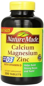 Nature Made's Cal/Mag/Zing Stack with D3 is perfectly dosed