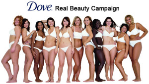 "Dove's ""real beauty"" campaign shows that healthy, beautiful bodies come in all different shapes and sizes - but none of them are truly obese."