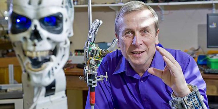 Kevin Warwick is one of the top experts in the world of Artificial Intelligence - and the world's first cyborg.