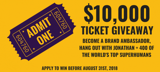Click here for more details on how you can win a free ticket to attend the Genius Network annual event - valued at $10,000.