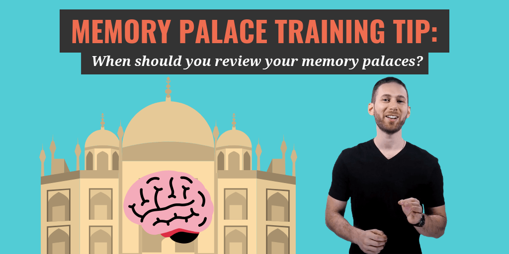 "A question I get asked very often is ""when should I review my memory palace?"". In this article, you will learn the best existing strategy for reviewing!"