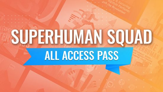 SuperHuman Squad All Access Pass Banner