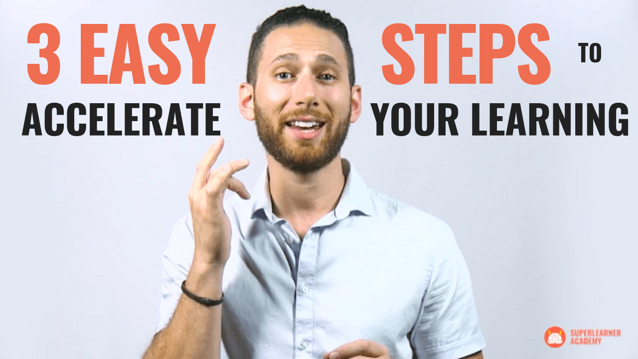 Jonathan Levi - Thumbnail for How To Accelerate Your Learning In 3 EASY Steps
